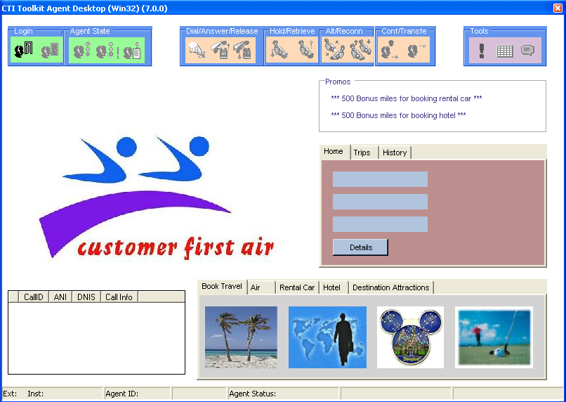 front end consisting of a form in which each component of the demo can have certain options changed.