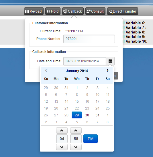 Outbound Agent Scheduled Callback Available On an outbound call In wrap-up