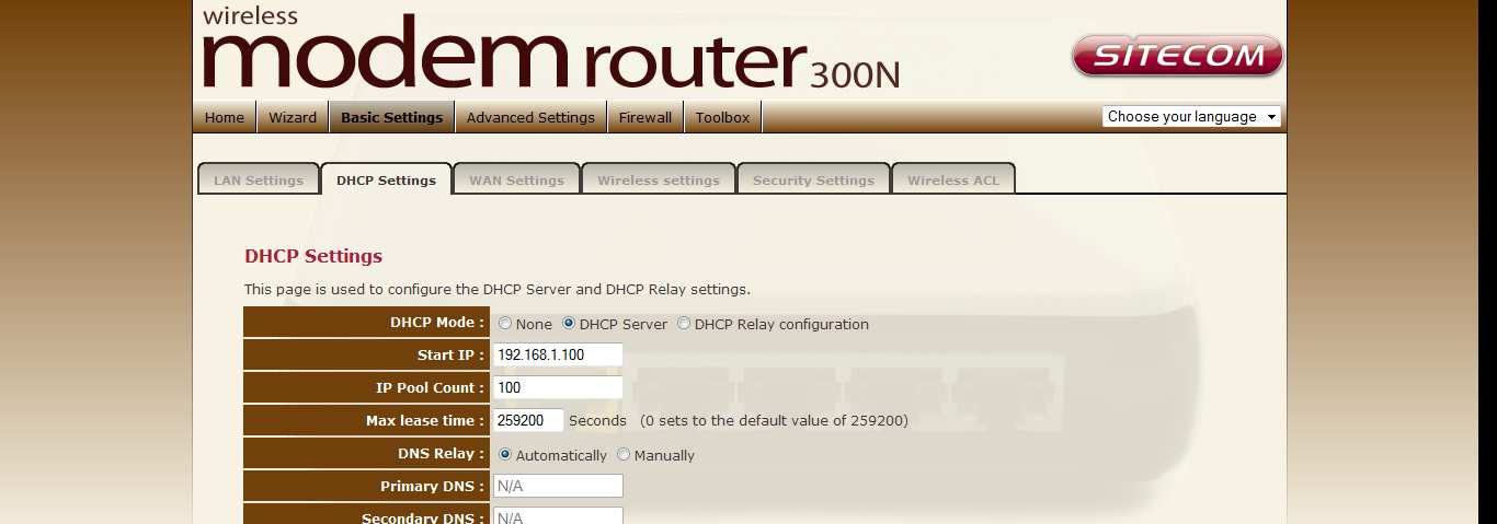 DHCP Settings You can configure your network and the router to use the Dynamic Host Configuration Protocol
