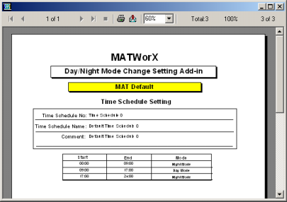 Chapter 2 MATWorX Overview Printing a Report The MACH Script Editor, and several Add-Ins enable you to print reports and listup data by clicking the