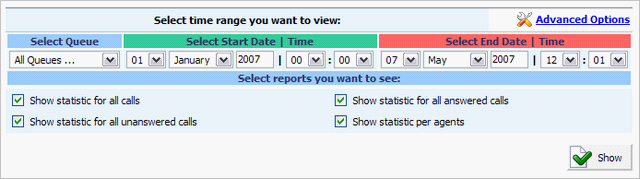 200 PBXware System Administration Manual Today/Week/Month/Year: Statistics time period Example: Select the time period statistics is to be displayed for.