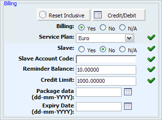 56 PBXware System Administration Manual Slave: Share extension billing funds with another extension Example: Enabling this option for extension 1000 and setting 'Slave Account Code'='1001' allows