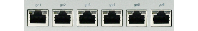 Chapter 1: Product Overview 1.3. Ports and Connectors This section is an overview of the SG4300 Series product's external design. Figure 1.2. Front View of the Clavister SG4300 Series.