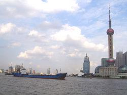 Shanghai (which is the busiest port in the world by cargo