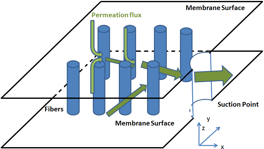 44 Application of CFD in Membrane Technique 3.5.2). Compared with other complex porous media problems [44, 45, 46, 47, 48], the calculation of our porous media is relatively simple. Figure 3.5.2 Structure of porous media inside the membrane plate built by Microdyn-Nadir GmbH.