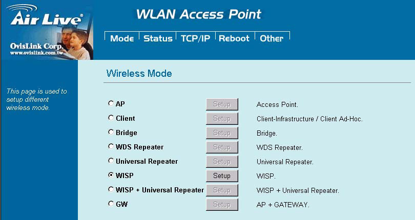 However, router functions are added between the wireless WAN side and the Ethernet LAN side.