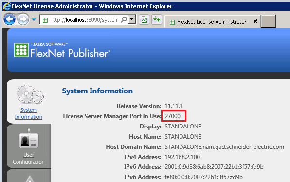 Enterprise License Server port The Enterprise License Server port in the License Manager (LM) must match the port being used by the FlexNet Publisher (FNP) service.