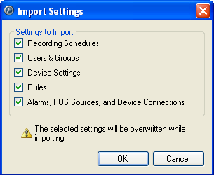 Avigilon Control Center Server User Guide Figure A. Admin Tool 4. In the Select File to Import dialog box, browse to the location of the settings file you want to import and click Open.