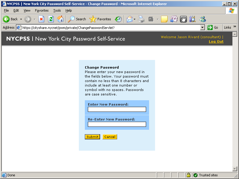 Service Offering Password Self Service Provides a web-based password self-service solution for entire NYC.