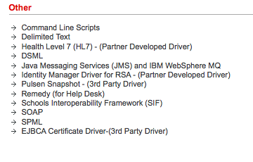 Indentity Management Drivers