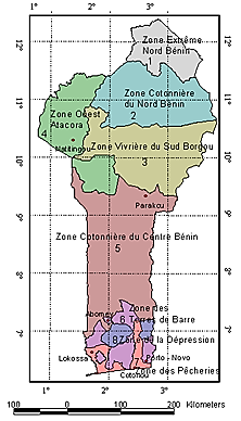 Figure 12: The agro-ecological zones of Benin as officially established by the Government of Benin. the population of in the north is majority Christian.