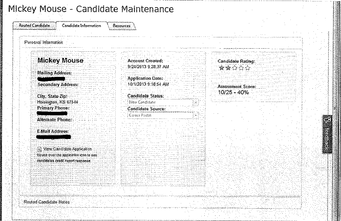 The first tab you will want to go to is Candidate Information.