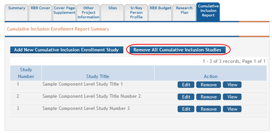 2. Select the Continue button to continue removing the study. Figure 137: Confirmation Message for Deleting a Cumulative Inclusion Report If you wish to cancel, select the Go Back button. 4.10.