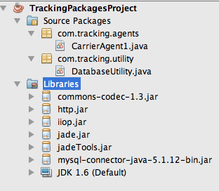 Figure 3. Adding libraries to the Java project. The library also contains a MySQL adapter for database connectivity to the server.