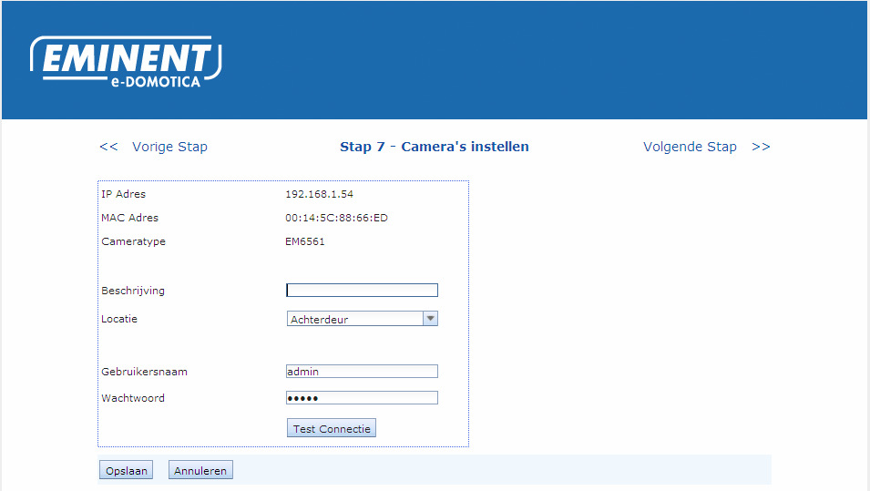 The e-domotica IP Cameras need to be connected to your home network (LAN/WLAN) and do not make use of Z-wave.