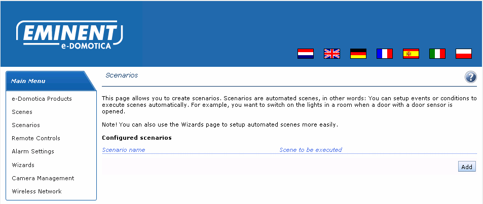 2. Press on the middle button on the toolbar. 3. Press Add to desktop 4. Enter a desired name and save this setting 38 ENGLISH 7.