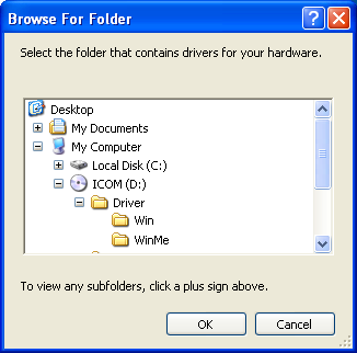 2 DRIVER INSTALLATION!7 of the Driver folder in the CD drive folder, then select Win folder. [OK].