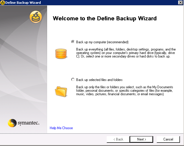 Appendix A: Using Backup Exec System Recovery with SmartFiler This appendix provides the steps and screens shot to help configure Backup Exec System Recovery software for the purpose of backing up