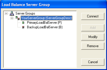 Hyperion FDM Installation Guide 3. In the server group add the default load balance server.