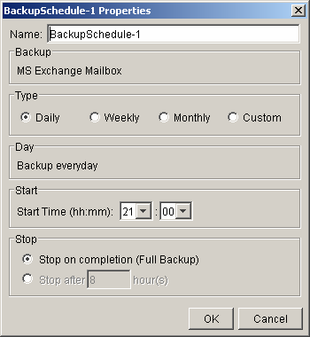 You can drill down to select individual items. d. Set the backup schedule e.