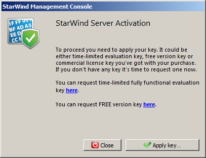 Licensing and Registration To register StarWind Management Console: 1. Generate a license key using the following link: http://www.starwindsoftware.com/registration-iscsi-san 2.