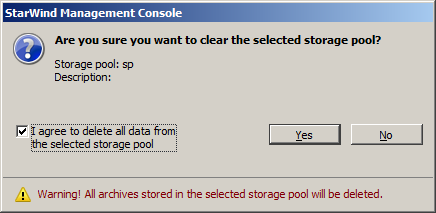 Actions that can be performed on a Storage pool All VM archives are sent to a storage pool where they are stored. Use the following link to view how to create and configure a storage pool 38.