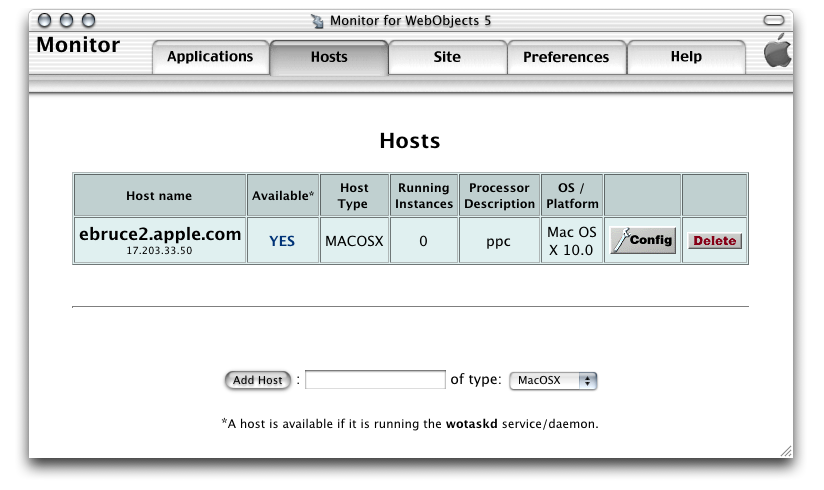 Deployment Tasks Setting Up Hosts Figure 5-2 shows the Hosts page