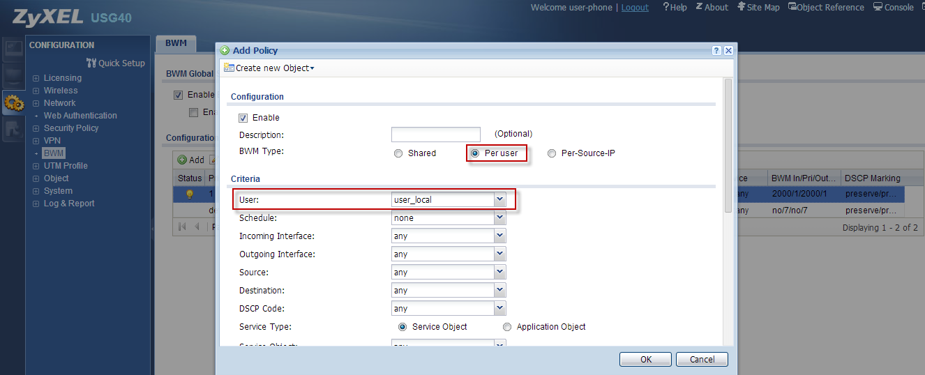 (2) Add these two accounts user-phone and user-pc into the group as user_local. Step 2.