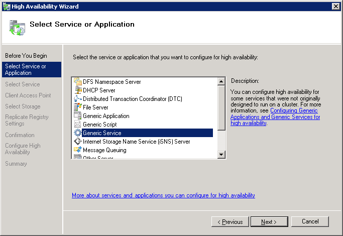 2 In the left pane, right-click Services and Applications, and select Configure a Service or Application.