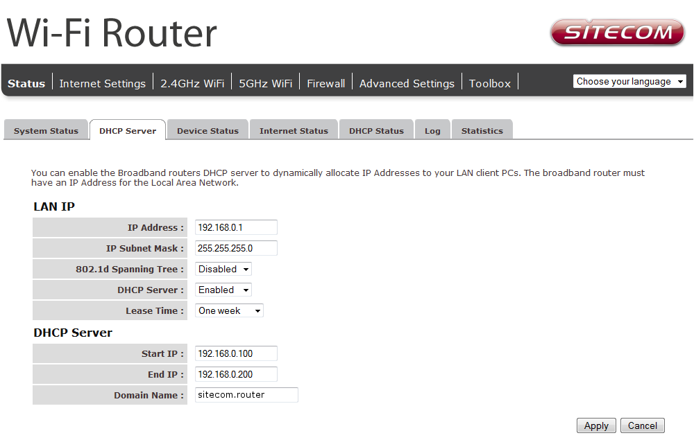 Configure your Router Status The System status section allows you to monitor the current status of your router, the up time, hardware information and serial number as well as firmware version