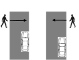 Accident scenarios for pedestrian Ex.