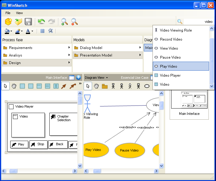 With WinSketch, the concepts of CanonSketch and TaskSketch were further enhanced. WinSketch combines the functionality of its two predecessors.