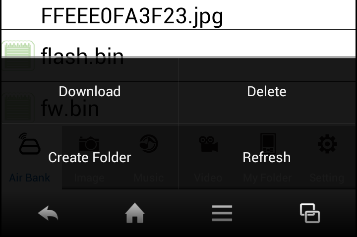 Save Files To save the desired file(s), do the following: 1. Tap Menu, then tap Download. 2. Select the file(s). A 4 icon appears on the selected item. 3. Tap Menu > Download.