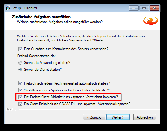 2. Open Software (since Windows Vista Programs and Features ) highlight Firebird 1.5 and select Remove/Uninstall.