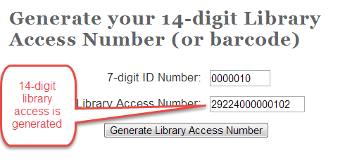LIBRARY ACCESS NUMBER Each student and faculty are provided with a unique number that allows them access to the subscription based resources of Indiana Wesleyan University.