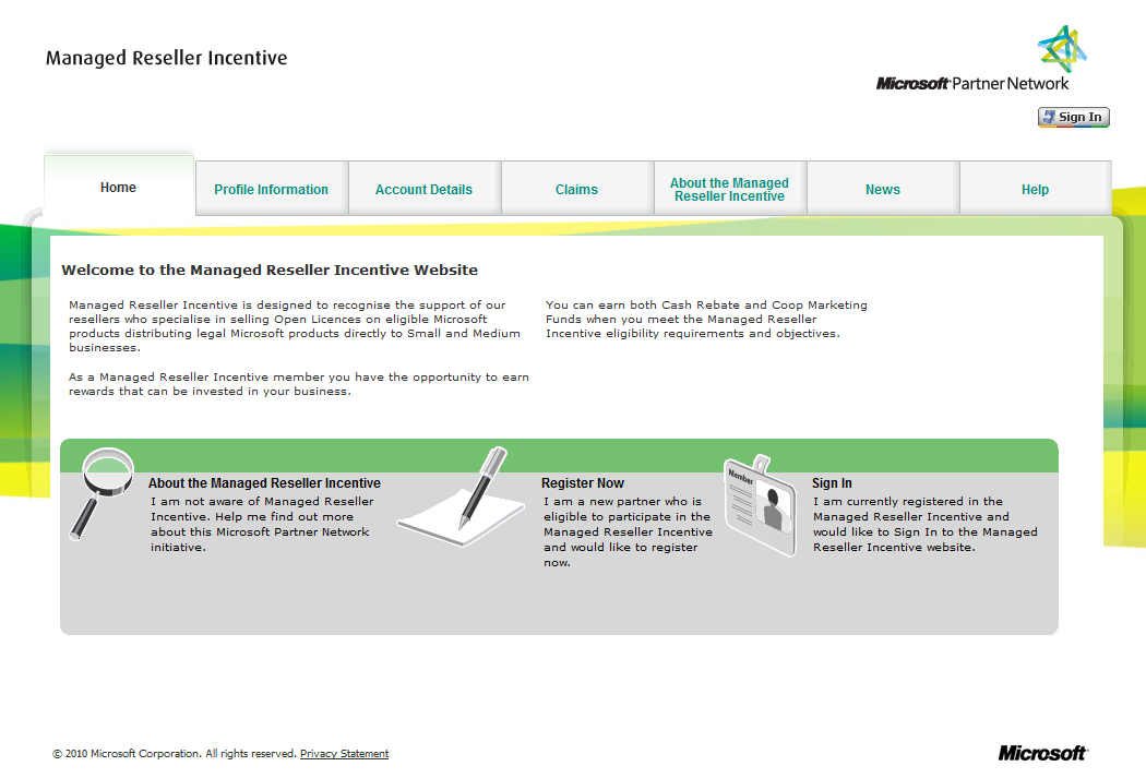 Microsoft Managed Reseller Incentive (EMEA) tool : https://microsoftc