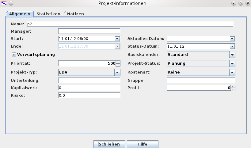 Create Project + Tasks In Gantt-view
