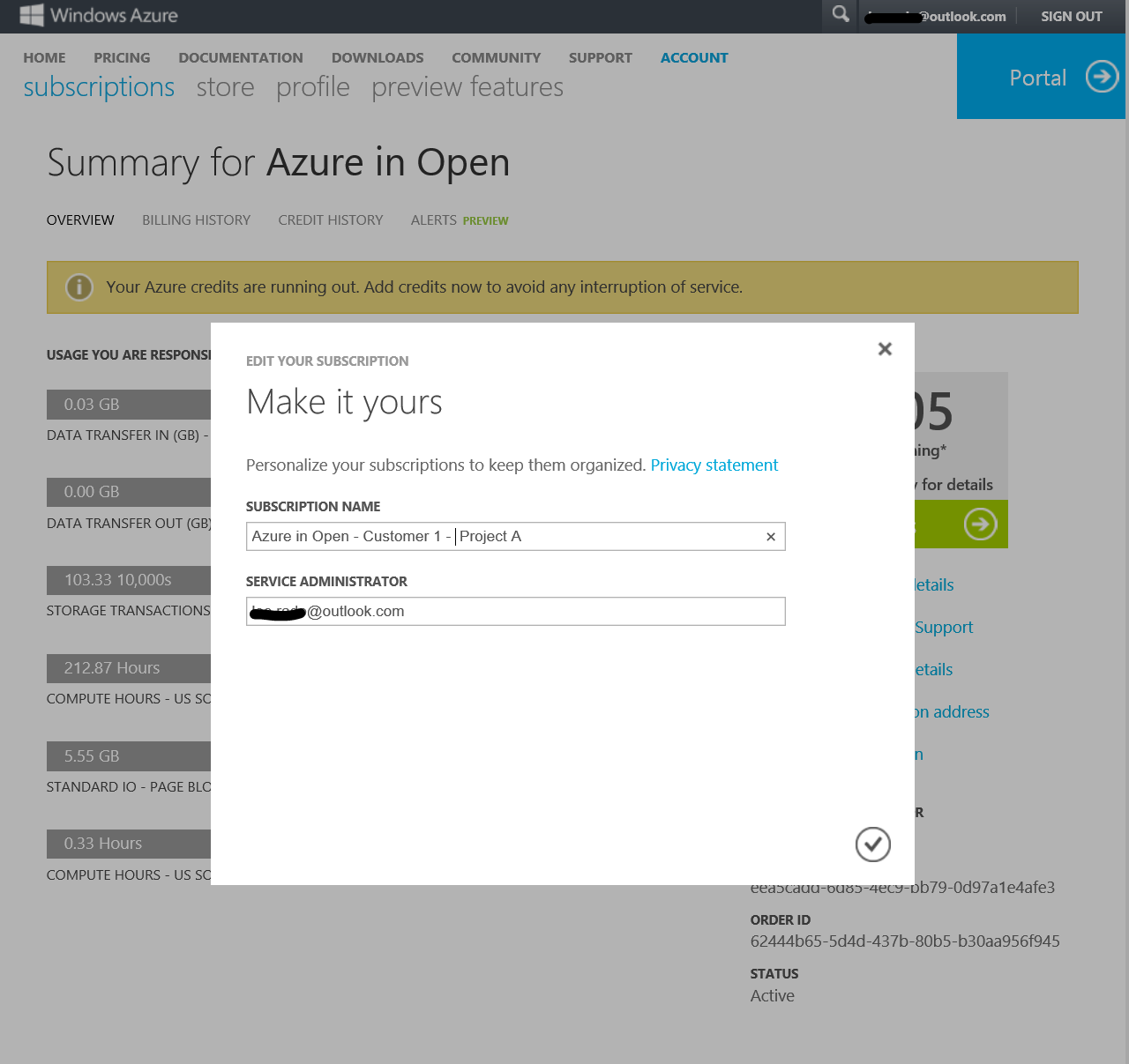 Managing Subscriptions Rename subscriptions to