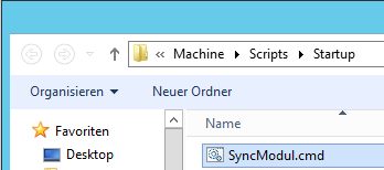 Add Search Insert the SyncModul.cmd.