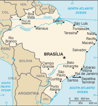 BRAZIL: BACKGROUND PROFILE Source: Central Intelligence Agency The World Factbook https://www.cia.gov/library/publications/the-worldfactbook/geos/br.html Geography Area: 8,511,965 sq. km.