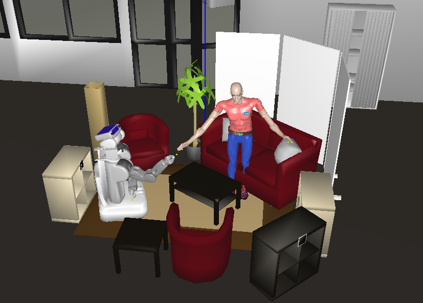 Evaluation Figure 6.11: The Living room setup, as represented by the robot during the experiment. h?obj type VideoTapei h?obj differentfrom videotape2i )?