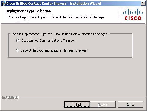 Installing the Cisco Unified CCX Software Chapter 4 Installing Cisco Unified CCX Figure 4-2 Deployment Type Selection Window Step 5 In the Deployment Type Selection Window, take these actions: a.