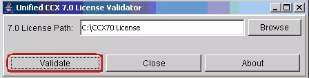 Chapter 5 Cisco Unified CCX 7.0(1) License Validator Figure 5-4 Cisco Unified CCX 7.