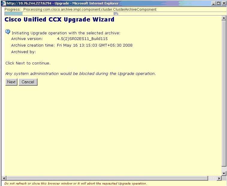Upgrading the Cisco Unified CCX Software Chapter 6 Upgrading CRS 4.5(x) to Cisco Unified CCX 7.