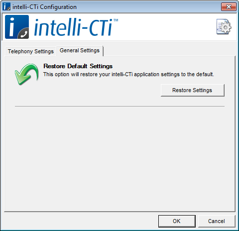 Configuring intelli-cti 6. Click on the Licence button to install or update you intelli-cti licence.