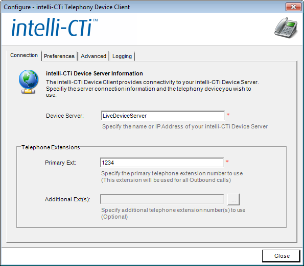Configuring intelli-cti Configuring intelli-cti Device Client Devices The following steps outline how to configure an intelli-cti Device Client Device.