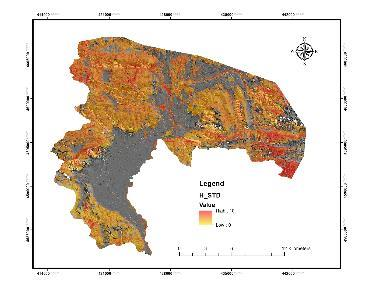 Estimation of forest parameters for wallto-wall mapping Inference of average structural indexes values (DBH_STD and H_STD) by ALS and mapping Estimating and mapping forest structural diversity using