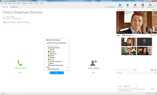 WebEx Meetings are delivered via Cloud Services & Client Meeting Data VoIP A / V PSTN Audio