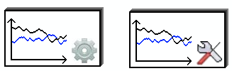 Figure 19: The new navigation system with color coding.. The graph setting icon was misunderstood, therefore a new symbol has been created.