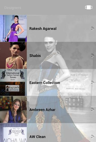 MOBILE APP DEVELOPMENT TORONTO INTERNATIONAL FASHION FESTIVAL 13 Mobile App Find out information about the